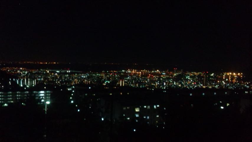 夜景を眺めながら